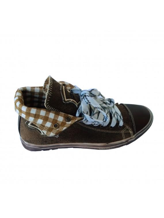Sneaker Herren Schuhe, Trachtenschuhe, Dunkelbraun