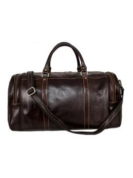 Leder Reisetasche, Marrone Scuro