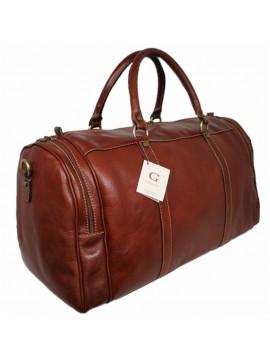 Leder Reisetasche, Marrone