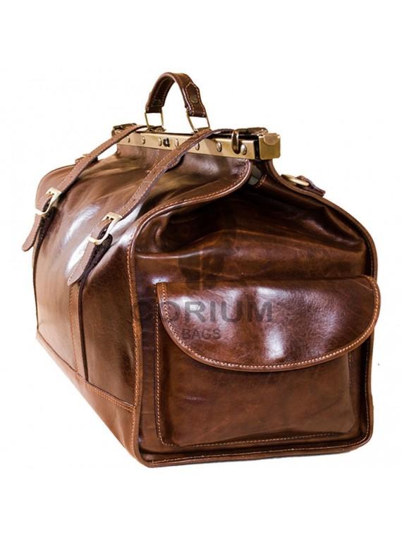 Vintage Leder Reisetasche, XXL, Cognac