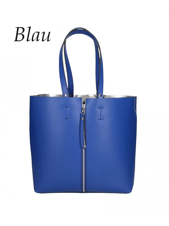 Damen Handtasche XXL Shopper aus Echtem Leder