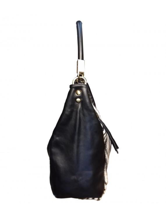 Damen Felltasche, Italienische Leder Felltasche